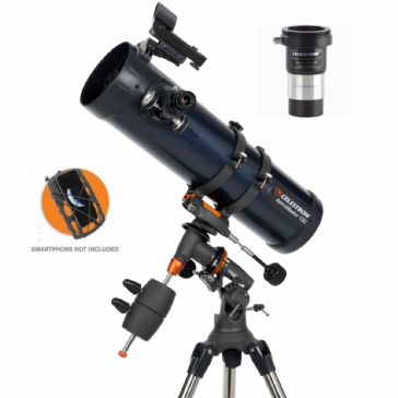 AstroMaster 130EQ Newtonian with Phone Adapter & T-Adapter/Barlow